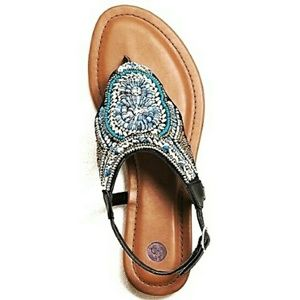 Southwest Style Beaded Sandals